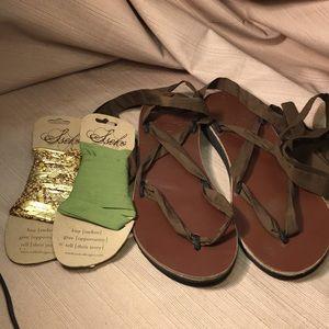 Sseko gladiator ribbon sandals with 3 straps